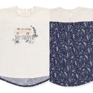 JESSICA SIMPSON Day Tripper Tee Oatmeal Heather 5Y